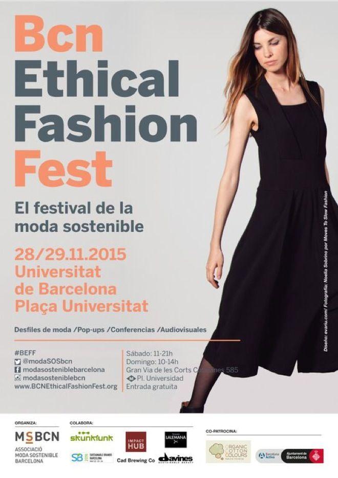 BCN Ethical Fashion Fest, festival de moda sostenible en la Universidad de Barcelona 28-29/11-2015