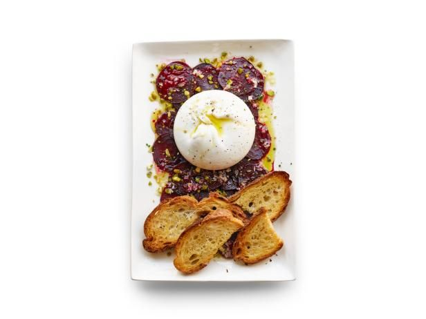 Get Food Network Kitchen's Beet Carpaccio with Burrata Recipe from Food Network
