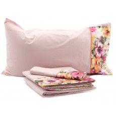 LETIZIA beds sheets by FAZZINI #colours #flowers #cotton go now: www.casabiancheria.it www.casabiancheria.es