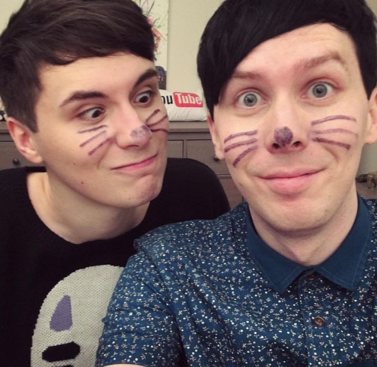 phil touched dans nose in the video