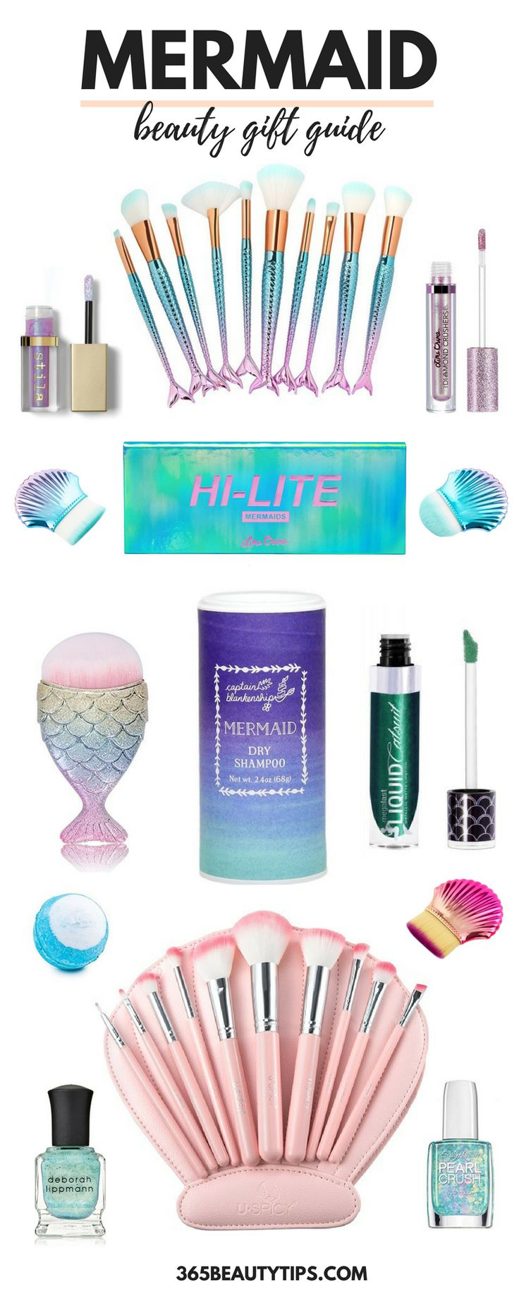 #mermaid #mermaidbeauty #giftguide #mermaidmakeup #beautygift #makeup #giftsforher