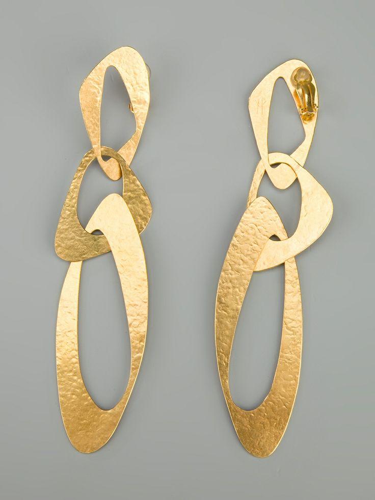 Hervé Van Der Straeten Sixties Clip Earrings - - Farfetch.com.br