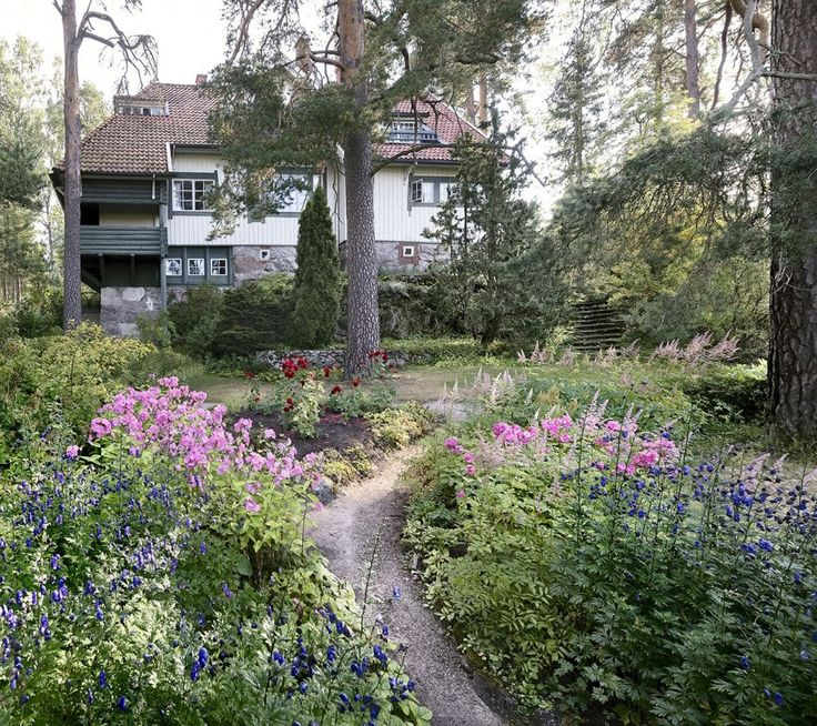 The garden of Ainola in Järvenpää in Autumn 2015