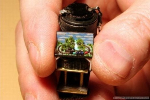 World's smallest model train (1:35,200). Now that's dedication.