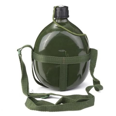 Bottle Water Military Cup Pouch Kettle Outdoor Canteen Molle Bag Holder Aluminum