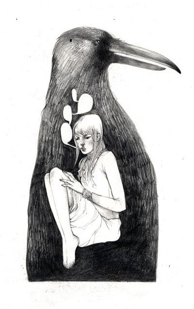 Alice Duke's Fantasy World: In_Crow_that_ate_a_Girl_by_melora.jpg