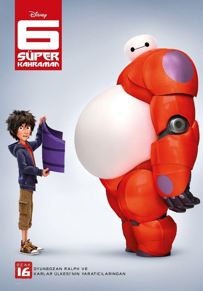 """Film Puanla Big Hero 6 Oldukça zeki bir robot tasarımcısı olan Hiro Hamada kendisini bir anda bir suç örgütünün içinde bulacaktır. Kötü adamların amacı yüksek teknolojili """"San Fransokyo"""" kentini yerle bir etmektir. En yakın arkadaşı Baymax 'ın yardımıyla Hiro, ... 6 Süper Kahraman #2014, #6SüperKahraman, #Aile, #Animasyon, #BigHero6, #ChrisWilliamsII, #DonHall, #Film, #Fragman, #HaftaSonuSinema, #Haftasonu, #Jam"""
