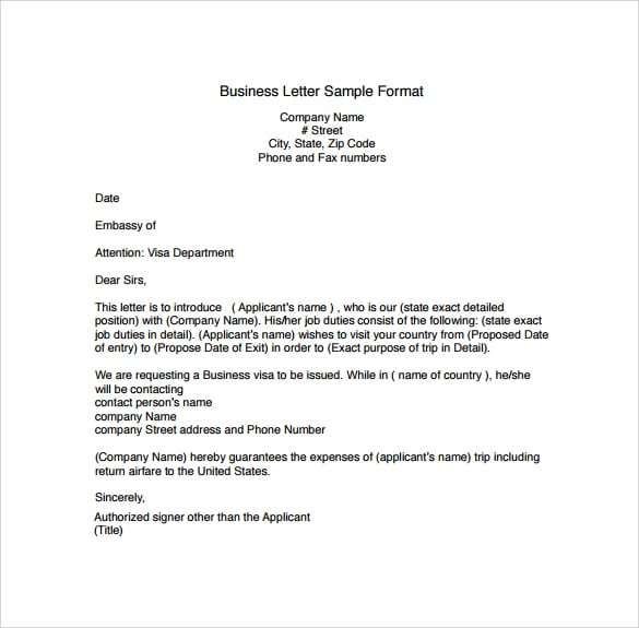 Sample Professional Business Letter from i.pinimg.com