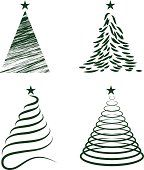 Various Christmas Tree Collection - Illustration