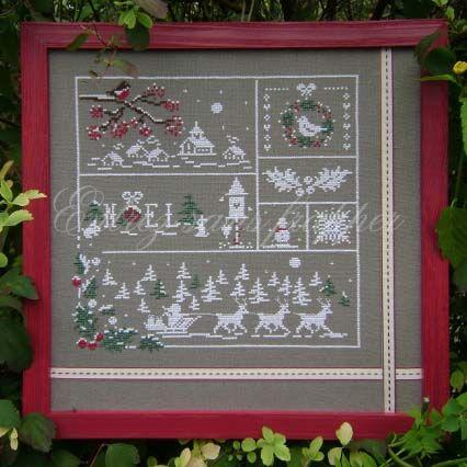 noel (couleur d'etoile): Fil De, Broderie Point, Christmas, Au Fil, Point De, Cross