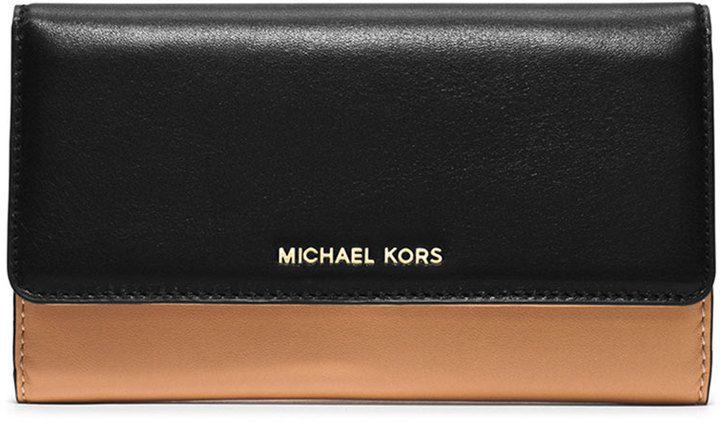 MICHAEL Michael Kors Colby Carryall Clutch Bag, Suntan/Black on shopstyle.com.au