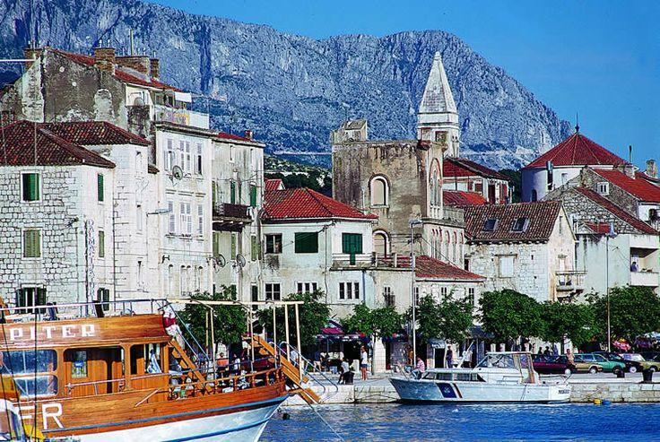 Boat harbor in Makarska, Croatia. June 11, 2012