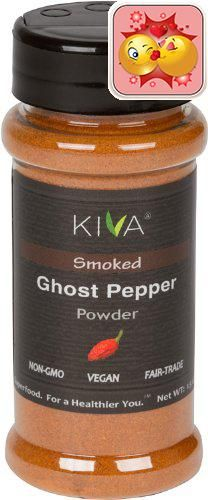 #Kiva #Gourmet Ghost Chili Pepper Powder: Made from one of the hottest peppers on earth, this bottle contains 100% pure ghost chili pepper powder (also known as ...
