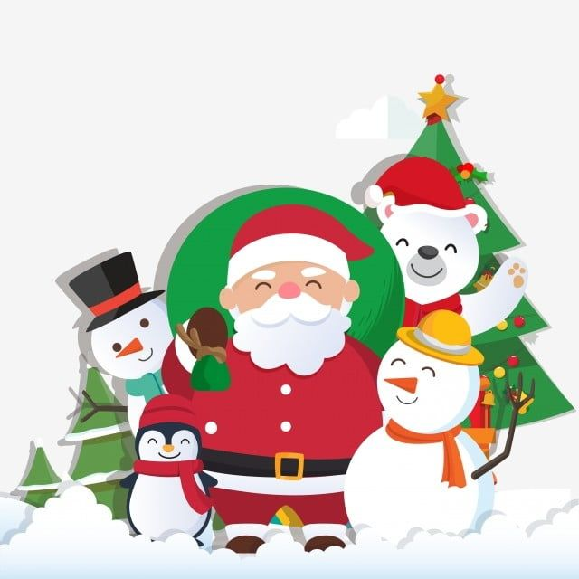 Fondo De Navidad Con Santa Claus Y Feliz Navidad Grafico Vectorial Y Imagen Png Christmas Background Cute Christmas Backgrounds Merry Christmas Vector