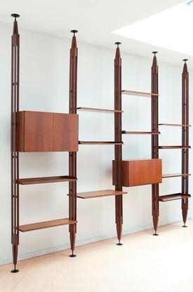 Franco Albini - Exceptionnal bookshelf LB7 Franco Albini for sale on Design Addict