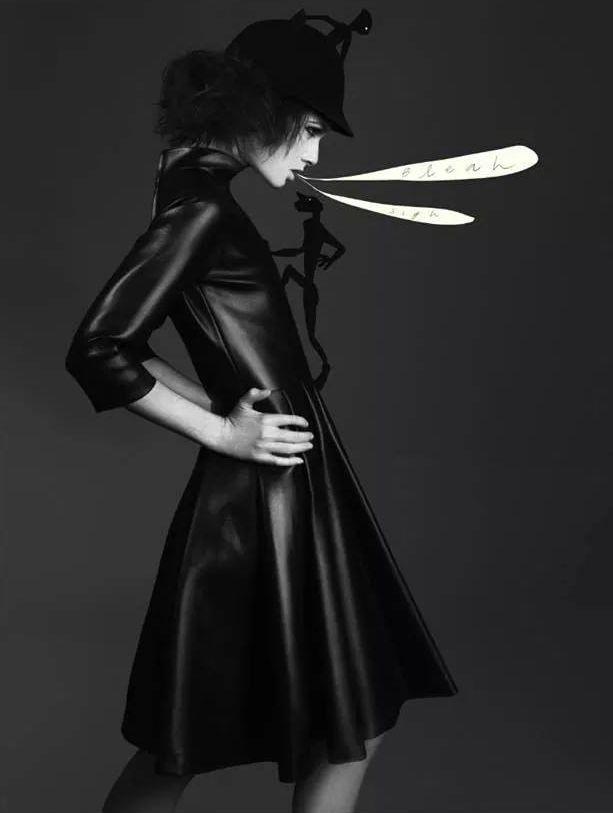 DassùYAmoroso dress.  CREDO Photography #Carlo William Rossi #Eugenio D'Orio #Giulia Brandimarti #Andrea Leigh  #Black dress #Eco #Leather #Fashion #Black #DassùYAmoroso