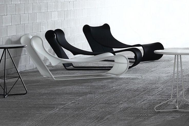 Chaise longue da esterno, in metallo e tessuto tecnico a nido d'ape, adatta per bordo piscina, aree relax California chaise longue