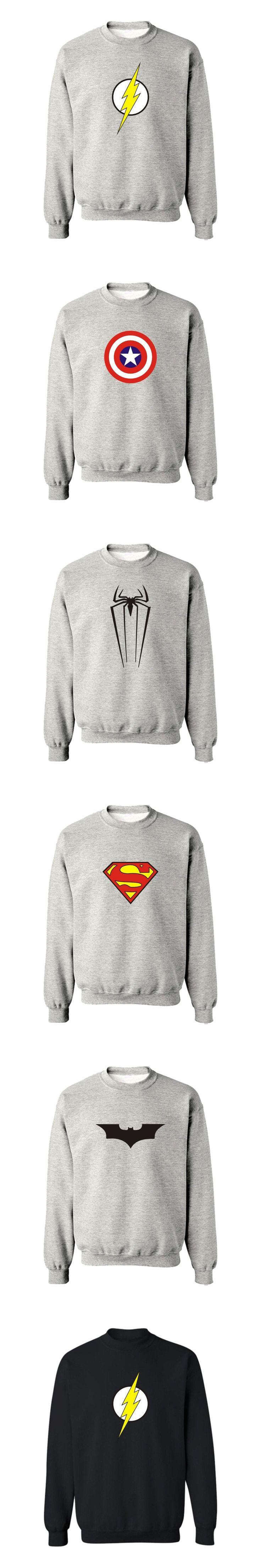 Hot !! Superman Logo 4XL Harajuku Sweatshirt  in Batman Super Man Mens Hoodies and Sweatshirts Hip Hop Boys Couples
