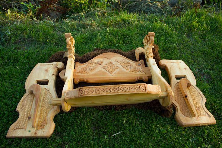 viking carving Wikinger Schnitzerei und Möbel My new system for assembling Mein neues Stecksystem