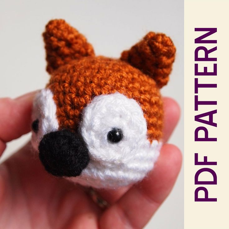 Crochet Amigurumi Head : Amigurumi Crochet Woodland Fox Head Keychain PDF by ...