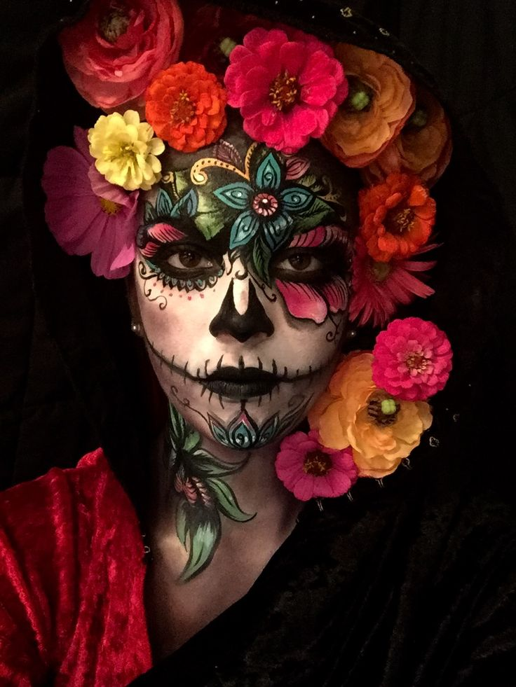 Pretty and Creepy Sugar Skull by Brian Fountain