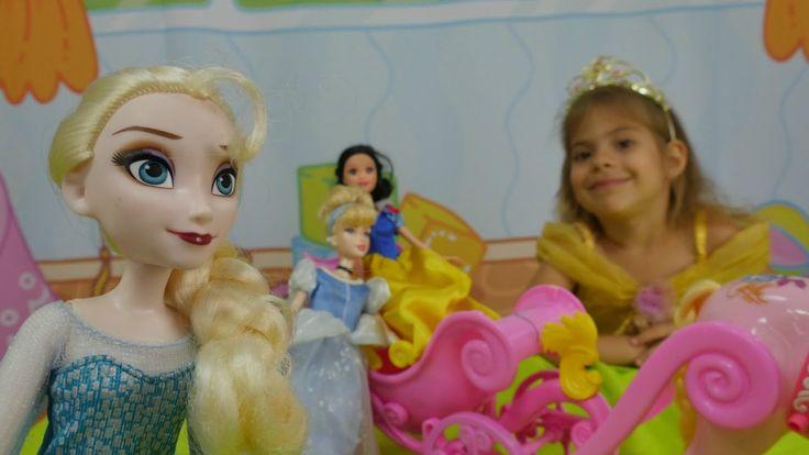 Oyun Diyarı - Çizgi filmi prensesleri, balo, cadı. Kız oyunları. Çocuk v...