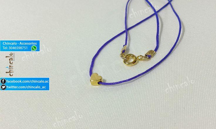 Collar Referencia: coll10 Valor: $6.000 Para: Mujer o Niña Material: Cordón y oro Goldfield Cuidados: No mojar y evitar el contacto con perfumes