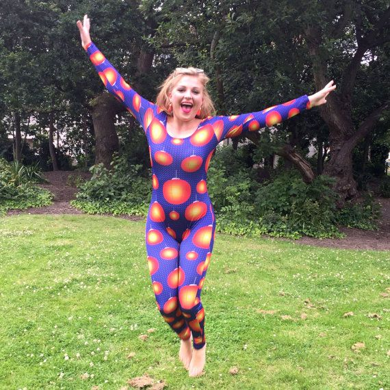 Chinese Lantern Catsuit Made to Order Fun Funky Disco by Danbine