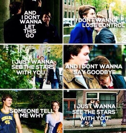 The Fault in Our Stars #TFIOS Hazel Grace Lancaster and Augustus Waters