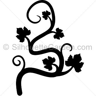 Pumpkin vine silhouette clip art. Download free versions of the image in EPS, JPG, PDF, PNG, and SVG formats at http://silhouettegarden.com/download/pumpkin-vine-silhouette/