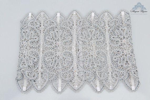 Lace corset belt bobin lace par MadamKruje sur Etsy