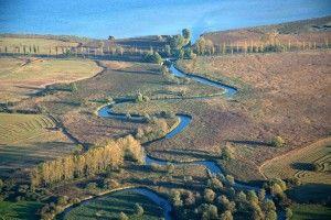 Das Mündungsdelta der Aach in den Bodensee bei Moos