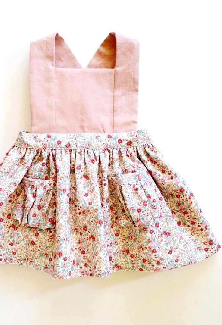 5e25665c1 Pretty Handmade Floral Pinafore Dress