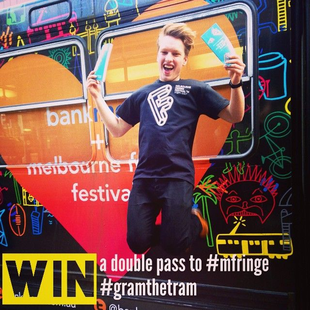 "@melbfringe's photo: ""Your FREE double passes to #mfringe are only an instagram away! Hunt down the @bankmecu tram on tramtracker (hint: Tram ID 278), snap a pic, share it with the tags #gramthetram @melbfringe @bankmecu and you'll be off to see an #mfringe show! http://tinyurl.com/pntkudu"""