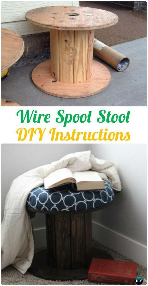 DIY Recycled Wood Cable Spool Furniture Ideas, Projects ...