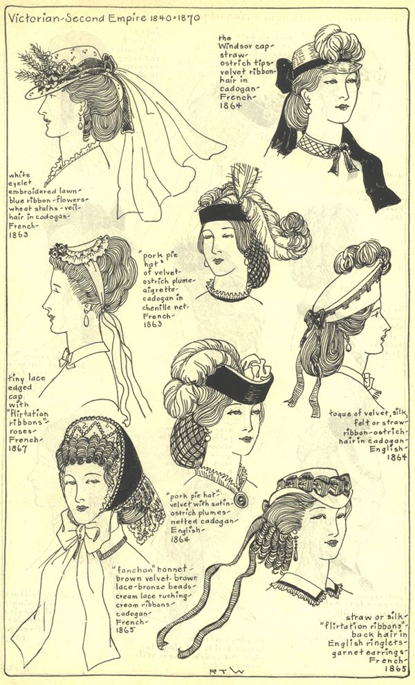 Mid 1860's ladies hats