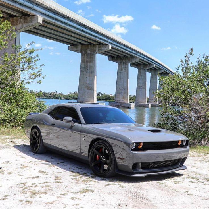 Dodge Challenger Hellcat Painted In Destroyer Grey Photo