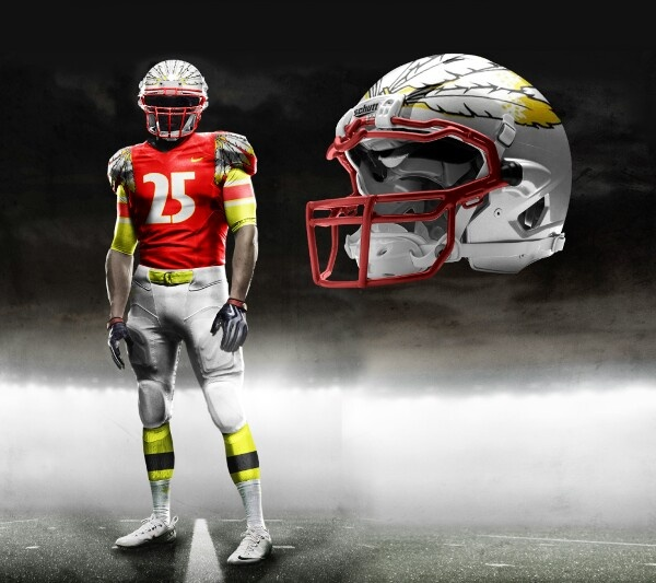 Football uniform redskins