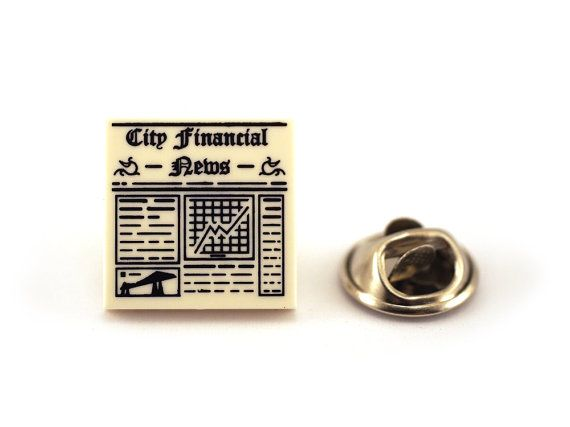 City Financial News Tie Pin Tie Tack Pin Men's Tie by Pinhero