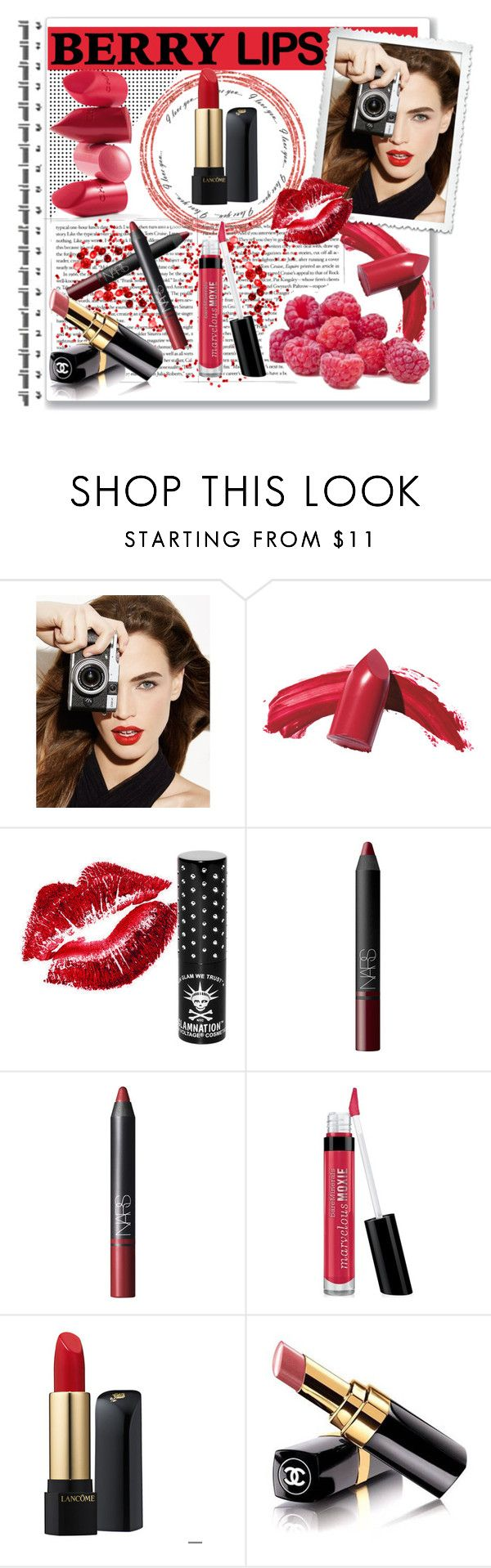 """Berry Lips"" by ericafisher ❤ liked on Polyvore featuring beauty, Smashbox, Elizabeth Arden, Manic Panic NYC, Rossetto, NARS Cosmetics, Bare Escentuals, Lancôme, Chanel and berrypretty"