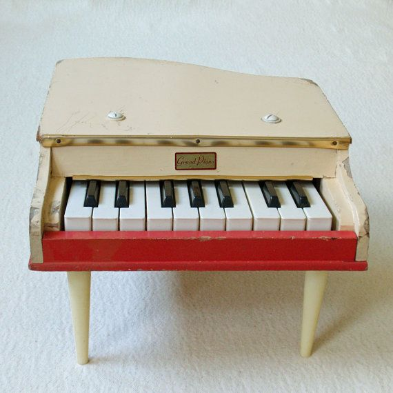288 best images about little vintage toy pianos other for Small grand piano
