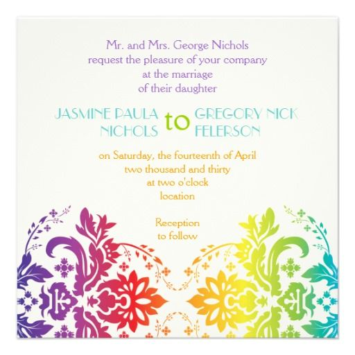 68 best rainbow wedding images on Pinterest Rainbow wedding