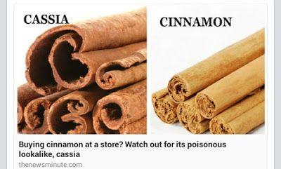 Kesihatan, Keselamatan dan Gaya Hidup: Perbezaan Kulit Kayu Manis Cinnamon dan Cassia