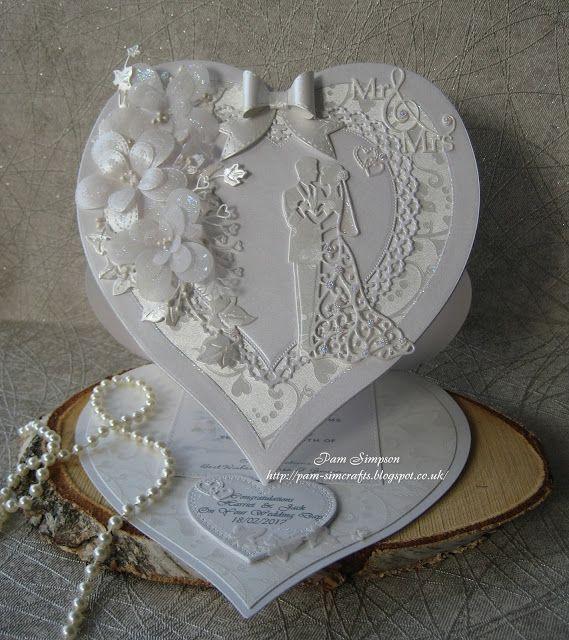 Easel Heart Wedding Card.