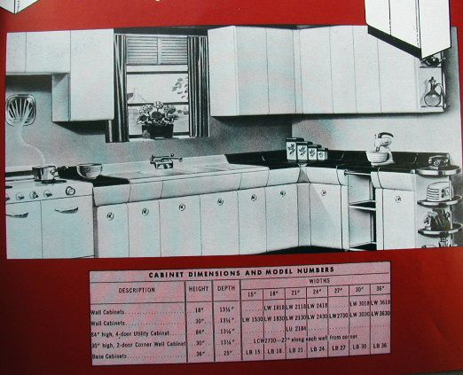 Great 1952 AMERICAN KITCHENS Catalog Steel Cabinets Base Wall AVCO Mfg  Connersville IN   7