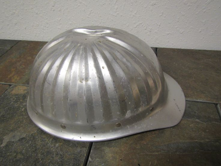 vintage Aluminum  Hard Hat , Construction Hat , Workers Hat, Safety Hat , metal hard hat , by mauryscollectibles on Etsy