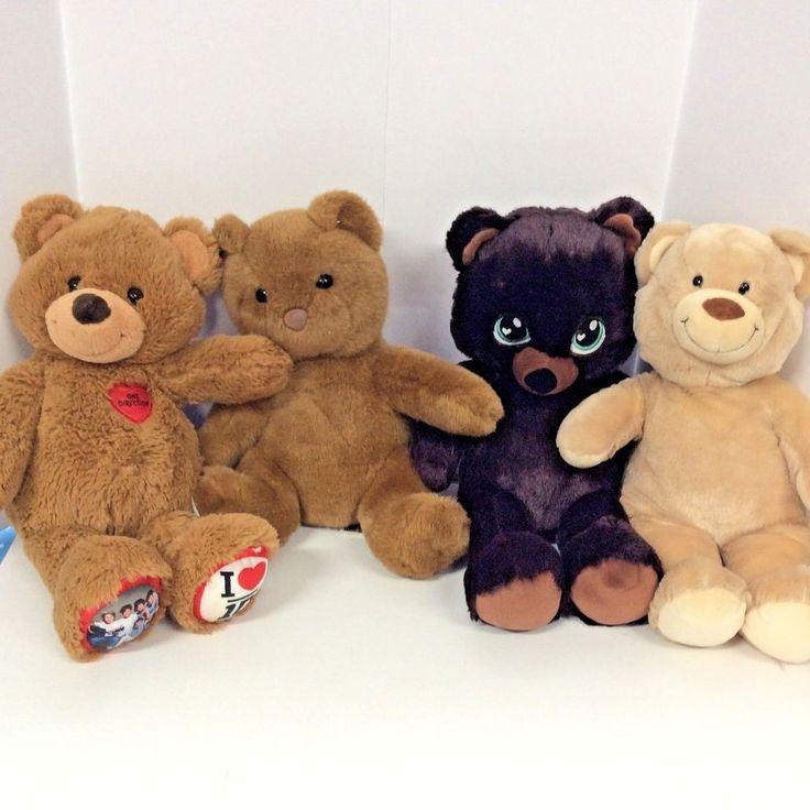 "Build A Bear Plush Mixed Lot of 4 Stuffed Animal Soft Cuddle Toy 17"" #BuildABearWorkshop"