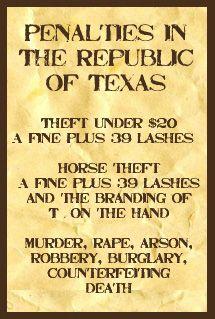 Rough Beginnings: Penalties in the Republic of Texas