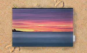 Sunset Peninsular, Bunker Bay Carry-All Pouch design by Dave Catley featuring…