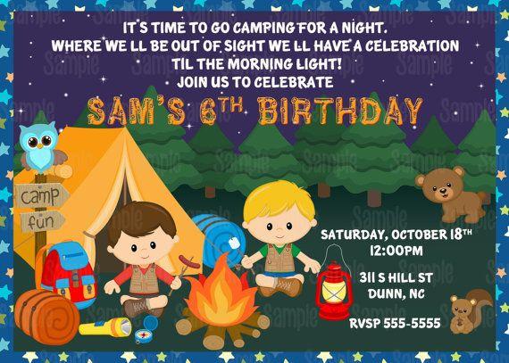 Printable Camping Birthday Invitation Plus Free Blank